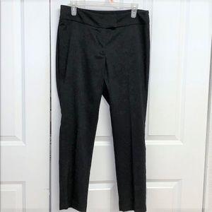 H&M Cropped Pants Size 10 Black Stretch